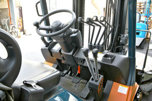 Image of a forklift cab/controls